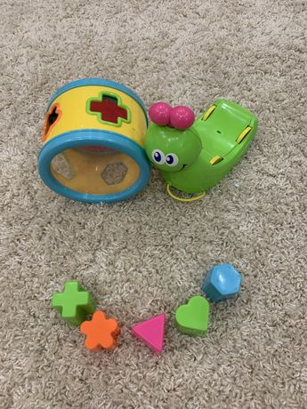 Игрушка Улитка розвивающая на колесах blue box