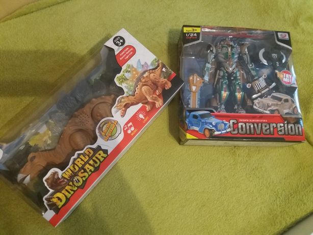 Dinozaur i robot za razem 55 zł.