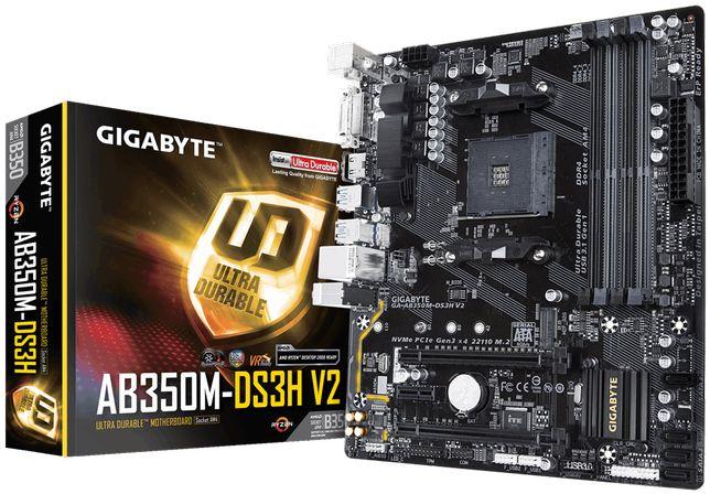 Новая! Материнская плата Gigabyte AB350M-DS3H V2