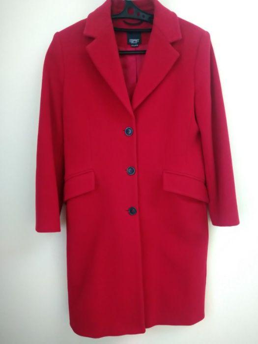 Пальто деми шерстяное красное Esprit р. S 42-44 Киев - изображение 1