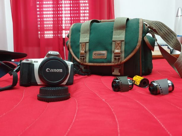 Vintage Canon EOS 300 + bolsa máquina fotográfica analógica rolo