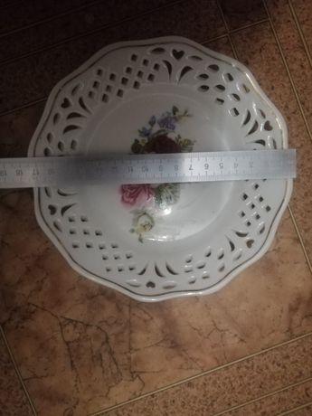 Тарелки ажкрные фарфор ручная роспись