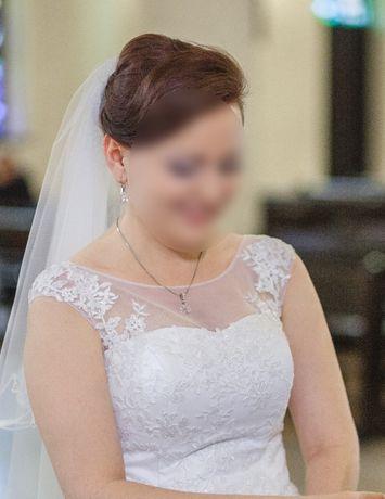 Suknia ślubna długa biała wiązana rozmiar 38-40 Legnica