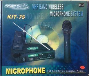 Microfone BST s/ fio (wireless) KIT-75 Headset