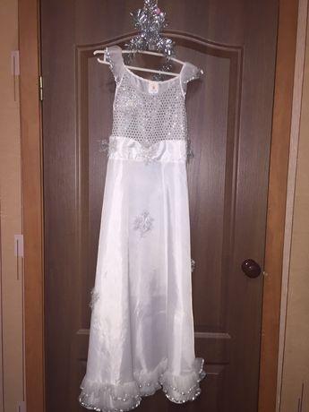 Карнавальный костюм,платье. Снежинка,зима.