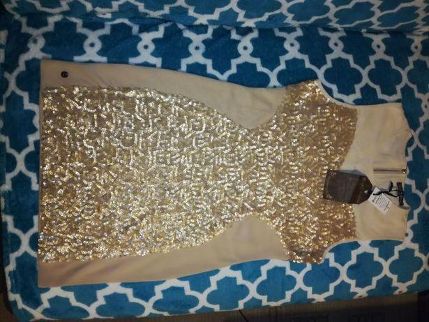 Sukienka piękna zlota