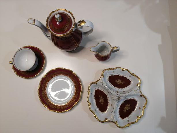 Republikański komplet kawowy porcelanowy