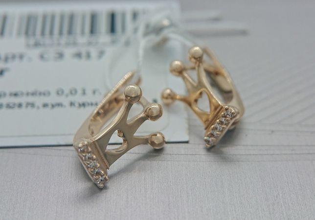 Дитячі детские сережки золоті 585 золото