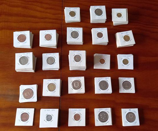 Vendo lote 222 moedas TODAS DIFERENTES l 1 centavo a 25 escudos
