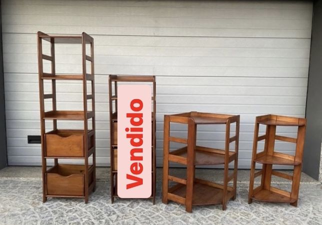 OPORTUNIDADE: Conjunto de 3 moveis de madeira maciça