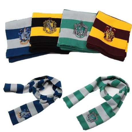 Cachecóis Harry Potter - Gryffindor, Hufflepuff, Slytherin, Ravenclaw