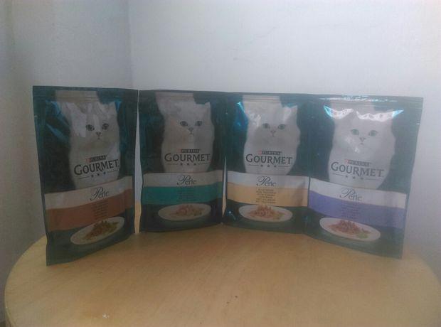 4x saszetki dla kota