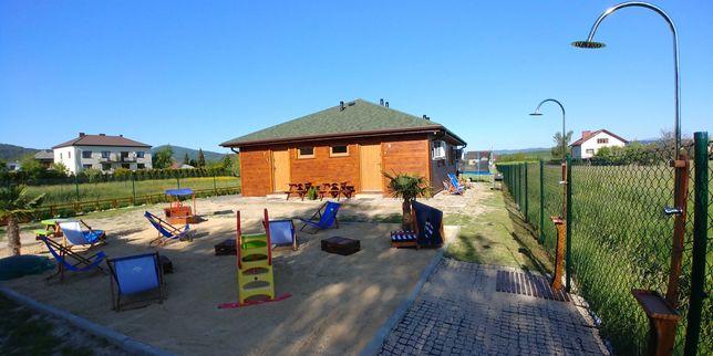 Noclegi - komfort z własnym ogrodem, sauna, jezioro żywieckie, cisza