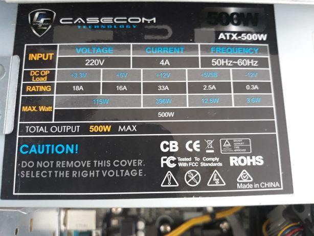 Продам блок живлення CaseCom atx 500w