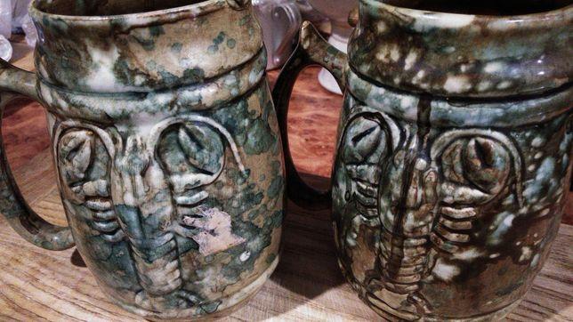 пивные бокалы ,керамика