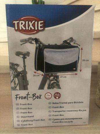 Torba,  transporter na rower Trixie szara NOWA