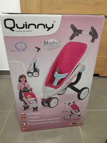 Nowy trójkołowy rózowy wózek spacerowka d lalki smoby quinny maxi cosi