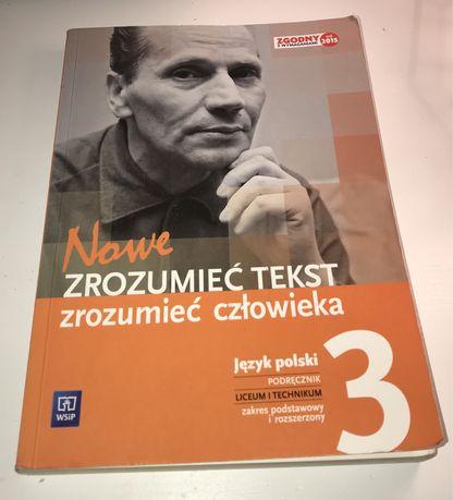 """Język polski podręcznik """"Zrozumieć tekst zrozumieć człowieka 3"""""""