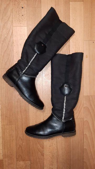 Фирменные кожаные сапоги(ботинки)трубы TOMMY HILFIGER рр 36 еврозима