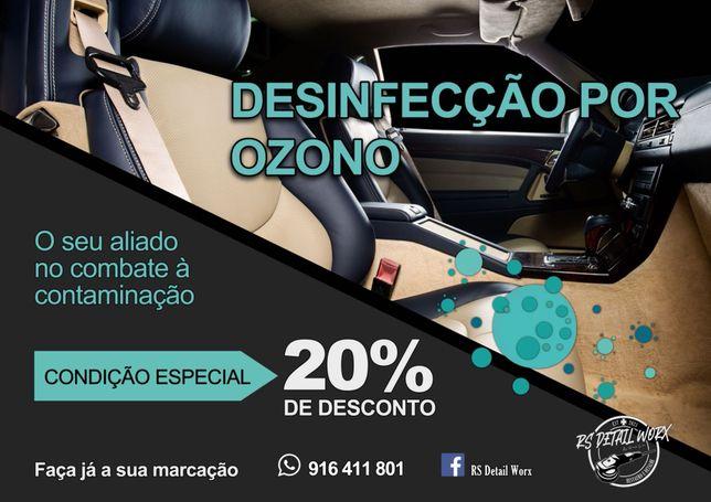 Higienização/Desinfecção por Ozono - Interior Automóvel