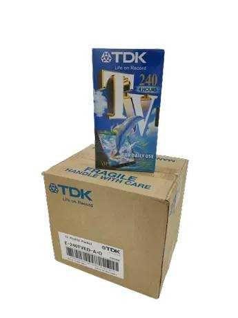 Fitas VHS TDK (Pack de 12 cassetes virgem)