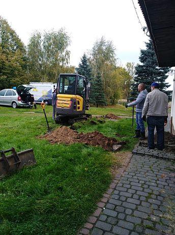 Usługi Minikoparką instalacje przyłącza Toruń Ciechocinek okolice
