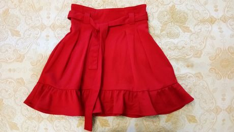 красная юбка h&m