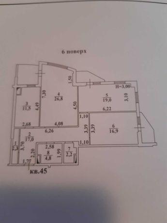 3-X комнатная квартира. Ж/К ОДИССЕЙ.