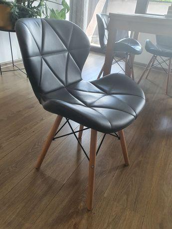 Krzesła tapicerowane szare