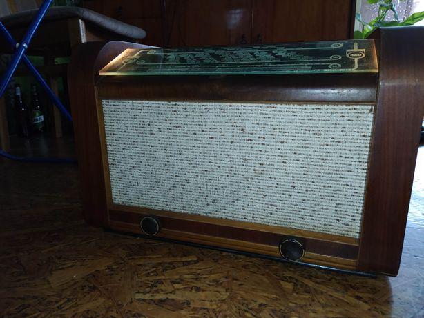 Stare zabytkowe kolekcjonerskie Radio lampowe Philips 460U prl antyk