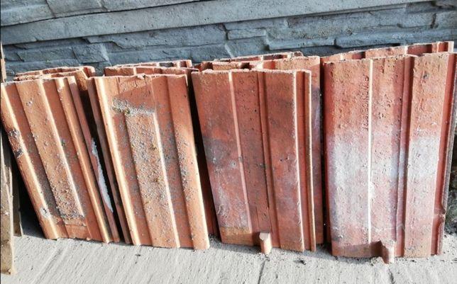 Stare gąsiory ozdobne ceramiczne stara dachówka PRL Piwonice lata 60