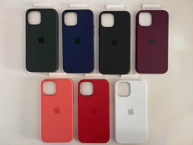 Capa em silicone com MagSafe para iPhone 12/12 Pro