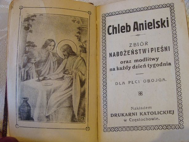 Chleb Anielski - unikat z 1931 roku ! -zbiór nabożeństw i pieśni