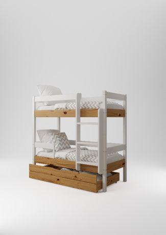 Кровать двухъярусная CUBUS НЕМО 70/190 Аляска+Орех
