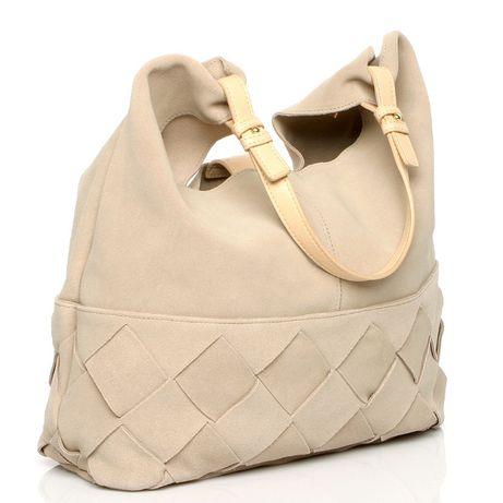 Женская замшевая сумка H&M кожаная кроссбоди хобо через плечо шоппер