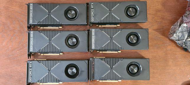 Pakiet 15szt nVidia GeForce RTX2080 8gb  rtx 2080 uszkodzone