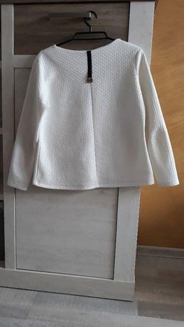 biała bluzka pikowana, piankowa