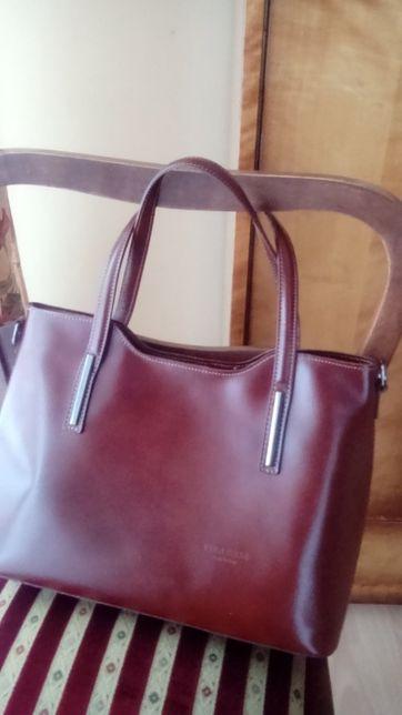 brązowa włoska torba