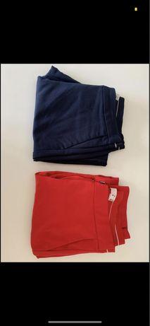 Calças classicas azul-marinho e vermelhas