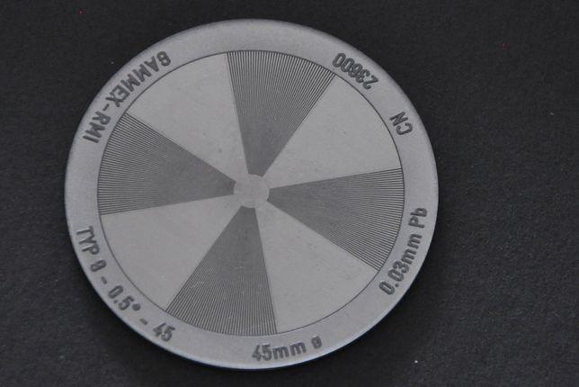 Star Test Patterns Gammex MA054-wzór testowy,kontrola jakości,testyRTG