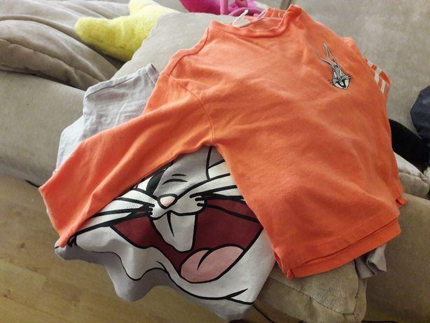 H&M dwie koszulki z krolikiem bugsem