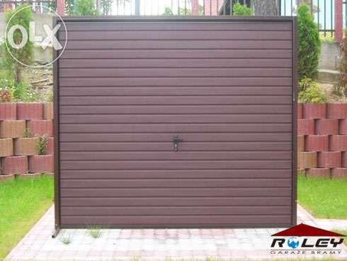 BRAMA garażowa uchylna WYMIAR Drzwi dwuskrzydłowe stalowe TANIO POMIAR