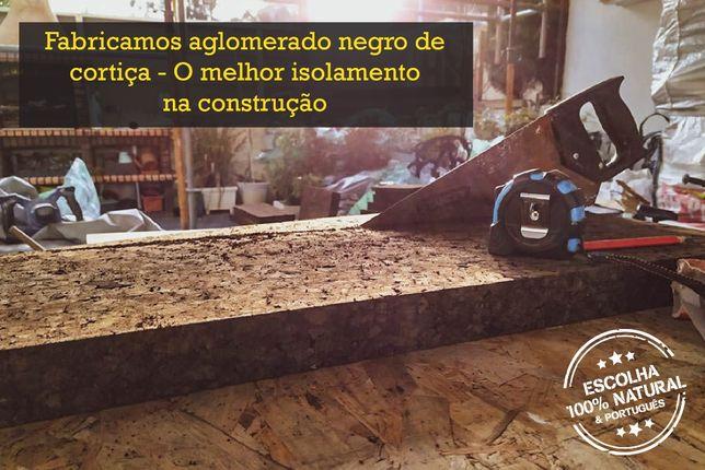 Aglomerado Negro de Cortiça - O melhor isolamento na construção.