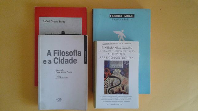 Diferentes livros na área da FILOSOFIA