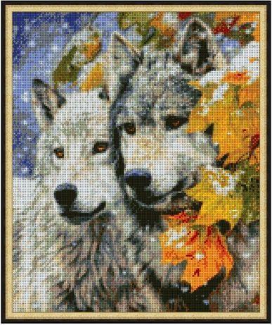 Продам вышивку Волки