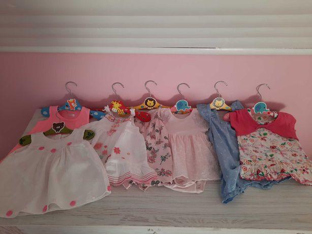 Mega zestaw sukienek dla dziewczynki 0-3 miesiące