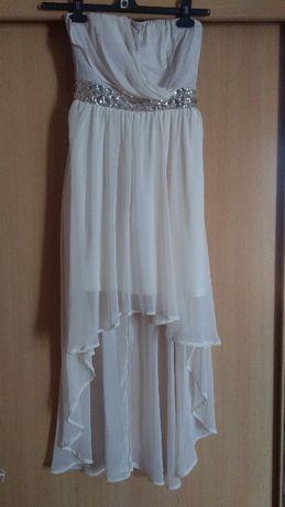 Śliczna suknia kolor ecru