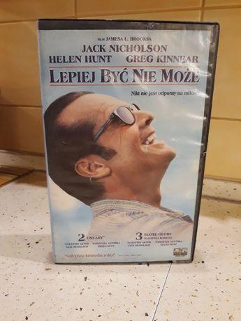 """Kaseta VHS z filmem """"Lepiej być nie może"""""""