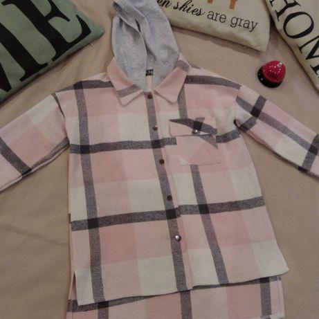 Рубашка модная теплая для девочки