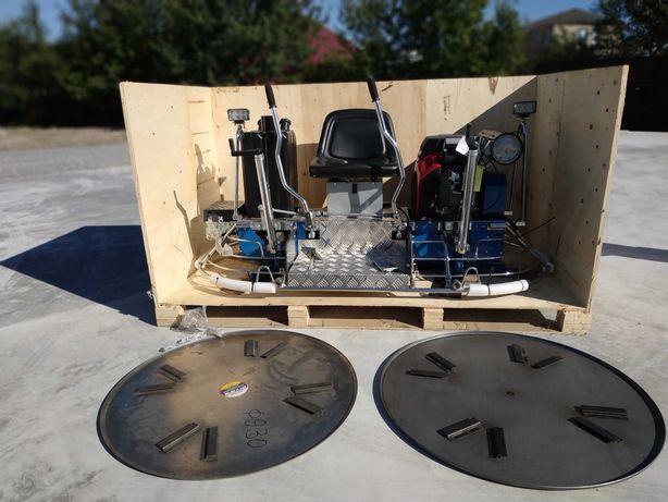 Двухроторная затирочная заглаживающая шлифовальная машина Дабл.